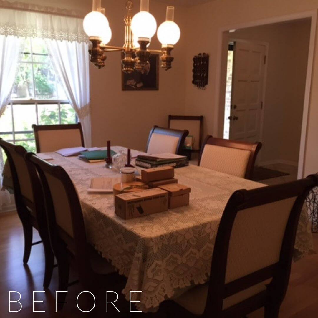home staging services, home styling services, dining room table, dining room chairs