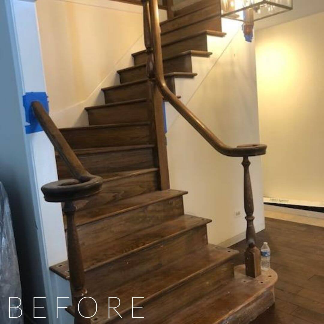 interior design services, staircase before